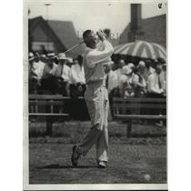 1932 Press Photo Golfer Eddie Williams - nes54524