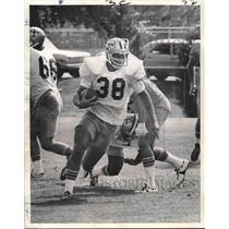 1973 Press Photo New Orleans Saints - Bill Butler, Running Back, Training Camp
