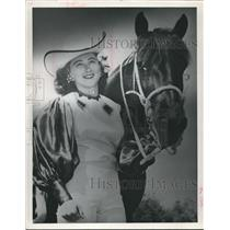 1961 Press Photo Naomi & Sparky Trick Rider, Fat Stock Show - hca04116