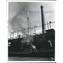 1973 Press Photo Smoke produced when coal is reduced to coke, Armco Steel Corp.