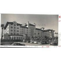 1981 Press Photo Front of Hotel Galvez, Galveston, Texas - hca04325