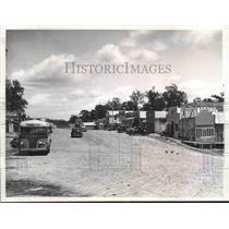 1938 Press Photo Main Street in Disney, Oklahoma - mjx37529