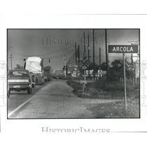 1982 Press Photo Highway 6 South into Arcola, Texas - hca04513