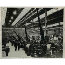 1939 Press Photo Royal Ordnance Factory Make 3.7 Inch Anti-Aircraft Guns