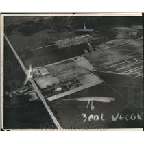 1927 Press Photo Aerial view of Milwaukee Mitchell Airport, Wisconsin