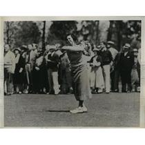 1936 Press Photo Deborah Verry Wins North & South Tennis Tourney on 19th Hole