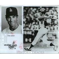 Press Photo Los Angeles Dodgers Steve Garvey in action - nes55292
