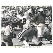 1973 Press Photo Football - New Orleans Saints Bill Butler Scores on Falcons