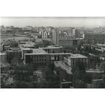 1986 Press Photo Aerial View of The Parliament Buildings in Ankara, Turkey