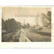 1939 Press Photo Burrwood, Louisiana Sidewalk, Near Mississippi River