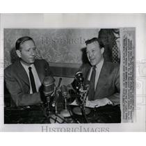 1955 Press Photo Walter Reuther John Bugas Ford Motor