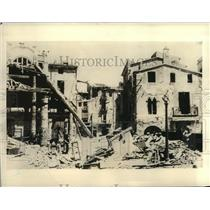 1938 Press Photo Bombing of the Once Picturesque Little Town of Granollers