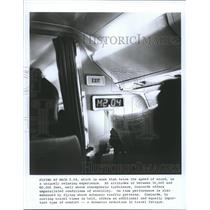 1982 Press Photo Inside the Concord Airplane - hca08234