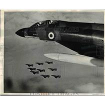 1969 Press Photo Royal Air Force's New Phantom Jet Used in Squadron 6