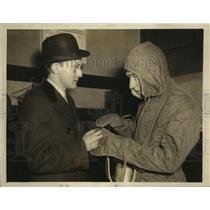 1934 Press Photo Mark Ridge aviator & daredevil & Fice Mork his manager in