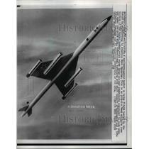 1958 Press Photo Soviet Russian Bomber Drawing