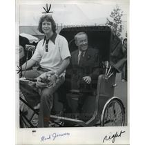 1974 Press Photo Jackson Pedicab, ride with Mark Jensen-Expo '74