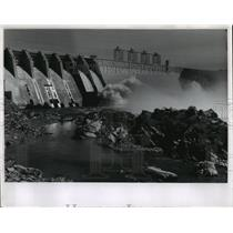 1959 Press Photo Noxon Rapids Dam On the Clark Fork River In Montana - spo00500