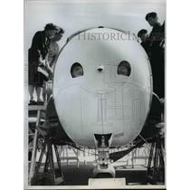 1960 Press Photo British Jet Provost T MR 3 on Display at Farnborough, England