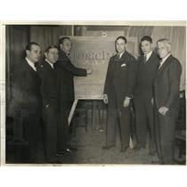1935 Press Photo Cch Stuhldreher, Meehan, Little, Crisler, Hamilton, Davidso