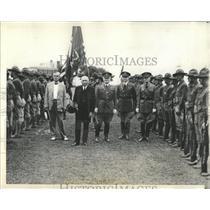 1928 Press Photo Secretary Kellogg reviews Camp - RRX84773
