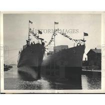 1935 Press Photo Conyngham Case Boston Navy Yard - RRX99407