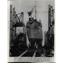 1937 Press Photo USS Somers Destroyer Launch Hackensack - RRX71333