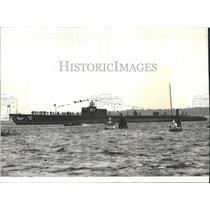 1938 Press Photo Submarine Sargo After Launching Conn - RRX99443