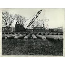 1938 Press Photo Naval Gun Storage Yard - RRX69207