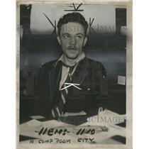 1936 Press Photo Ted Bisaga Alias Jack Wilson Shown - RRW48231