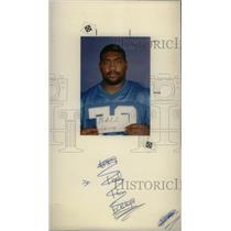 1991 Press Photo Jerry Ball Detroit Lions Lineman - RRX39379