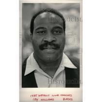 1985 Press Photo Detroit Lions William Back Coach - RRX39159