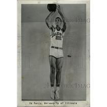 1959 Press Photo ED PERRY UNIVERSITY OF ILLINOIS - RRW82215