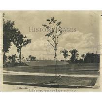 1939 Press Photo Football Field Skokie Illinois