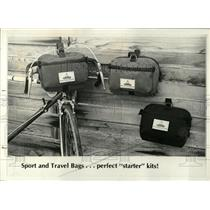 1977 Press Photo Bicycle Travel Bags Sew Yourself - RRW04021