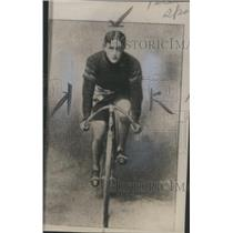 1940 Press Photo Cyclist R. A Moross on Bicycle- RSA13257