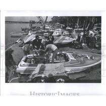 1983 Press Photo Southland Regotta Boat race Fred- RSA30009