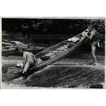 1977 Press Photo  Des Plaines River Canoe Marathon