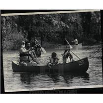 1973 Press Photo Des Plaines River Canoe Marathon