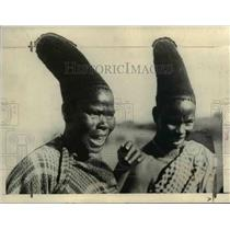 1925 Press Photo Africa-fashion-feminine hair dress - cvb10813