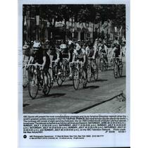 "1990 Press Photo 77th Tour De France on ""ABC's Wide World of Sports. - cvb53358"