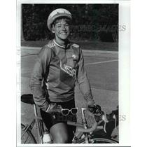 1989 Press Photo: Siga Bankaitis - Andrew Cyclist - cvb53499