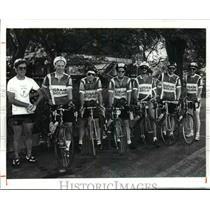 1991 Press Photo Lorain Wheelman bicycle club. - cvb53980