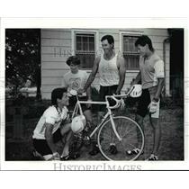 1991 Press Photo Hastings family-Bally's Scandinavian Triathlon - cvb54147