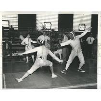 1959 Press Photo Foil Match: Mexico vs. Argentina - RRW52041