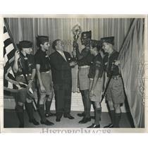 1958 Press Photo Pan American Games Torch - RRW52059