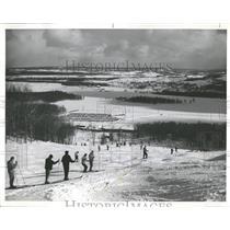 1971 Press Photo Boyne mountain Victor run stout Skier