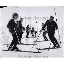1963 Press Photo Mt. Holly Skiing Lessons - RRW02783