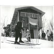 1970 Press Photo Skiing Young Ricki Schaller Hayward Be