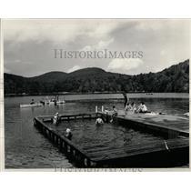 1949 Press Photo swimming crib Organization Camps - RRW02589